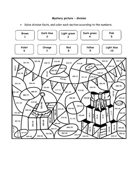 color by number division 22 to do division color by number printables