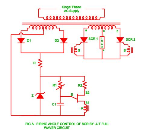 scr firing circuit diagram firing angle of scr by the ujt wave circuit
