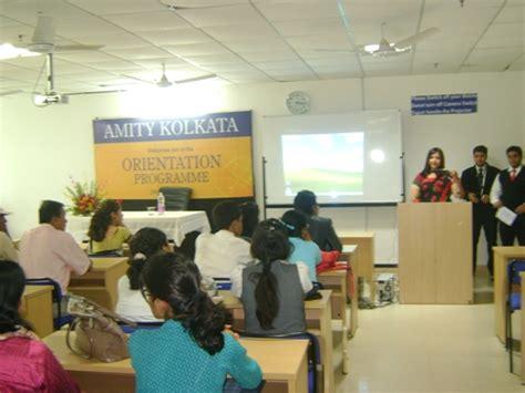 Mba In Amity In Kolkata by Orientation Programme Amity Kolkata Cus Details