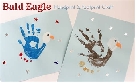 bald eagle hand print  foot print craft