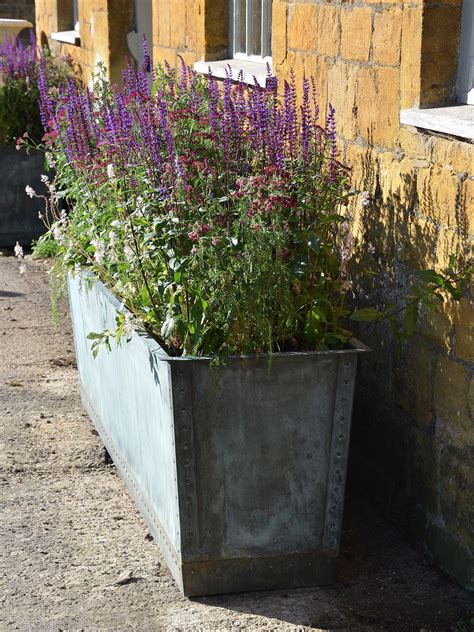 Narrow Planters by The Rectangular Copper Garden Planter Large Narrow