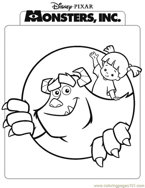monsters inc coloring pages pdf monsters inc coloring page 10 coloring page free