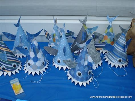 How To Make A Paper Shark Hat - the gallery for gt shark hat craft