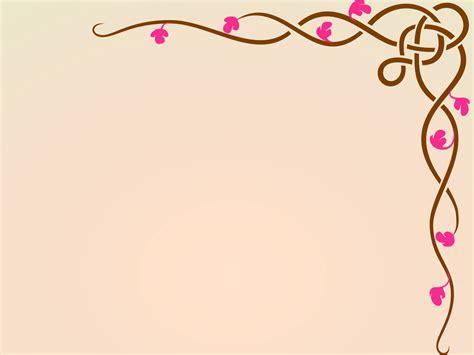 Floral Arrangement Ideas by Floral Design Frame Ppt Backgrounds Border Amp Frames