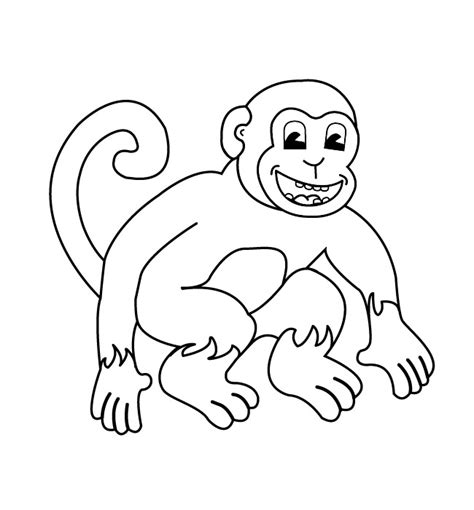 free printable monkey template free worksheets 187 spider templates printable free math