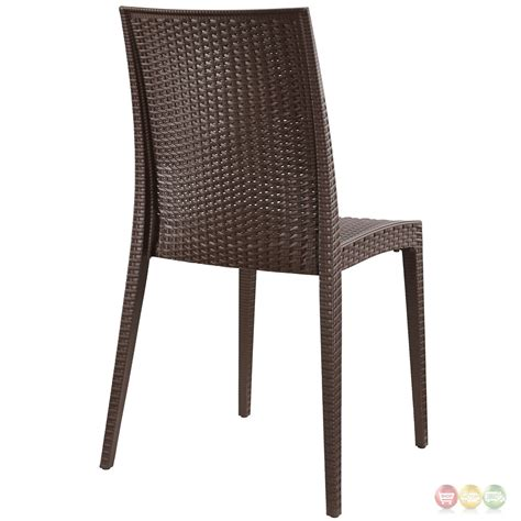 Patterned Dining Chairs by Intrepid Modern Plastic Criss Cross Patterned Dining Side