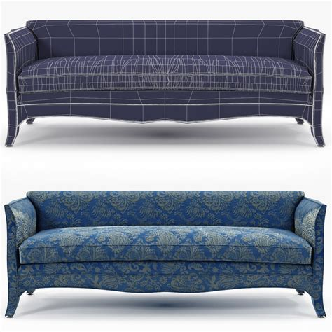 high back settee keoki 3d high back settee with arms talisman bespoke sofa french 3d model