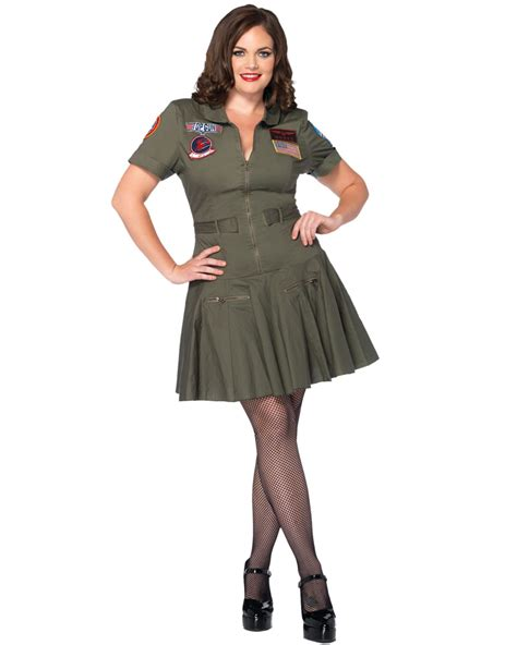 80 S Accessories For Plus Size by Cl48 Top Gun Womens 80s Costume Army Aviator Flight Dress
