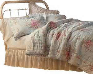 Linen Coverlet King Shabby Chic Full Queen Comforter Set Pink Roses Bedding