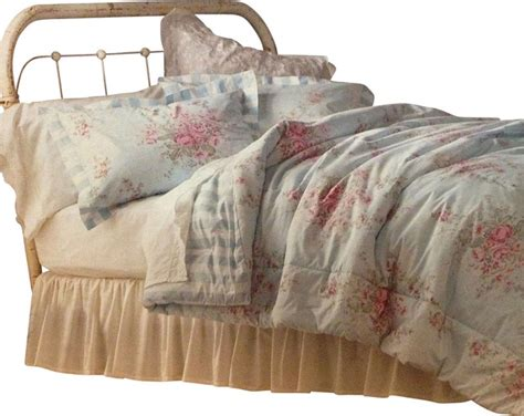 shabby chic full queen comforter set pink roses bedding
