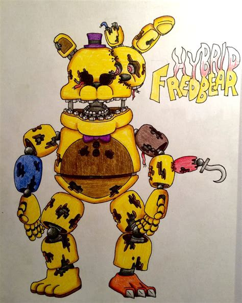 how to fan made hybrid fredbear tfg fan made by drgoldenstar on
