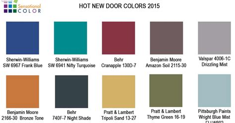 newest paint colors for 2015 your home sing new door paint colors for 2015
