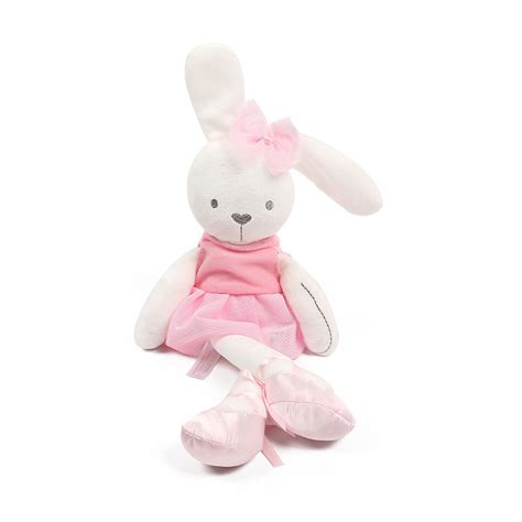 Bunny Plush Mamas Papas Doll Boneka Kelinci Pink Ballerina 42cm baby toys rabbit sleeping comfort doll plush toys mamas papas smooth obedient rabbit sleep