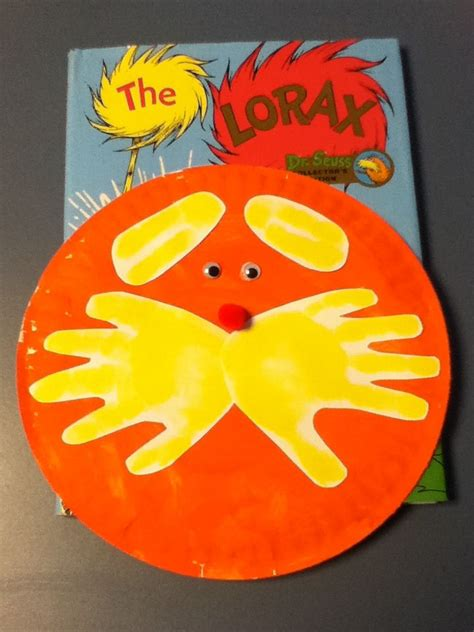 Dr Seuss Paper Plate Craft - dr suess the lorax craft let the paint a paper