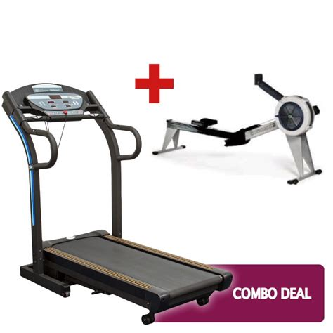 hire treadmill and concept 2 combo deal