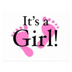 Its a girl baby newborn baby shower postcard