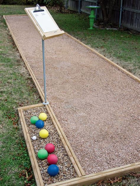 backyard bocce ball court build an outdoor bocce court hgtv