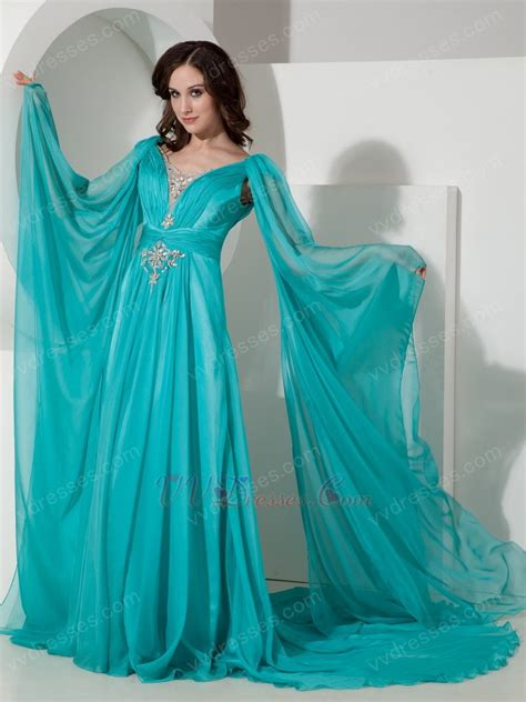 top design v neck brids wing design 2014 top designer prom dress