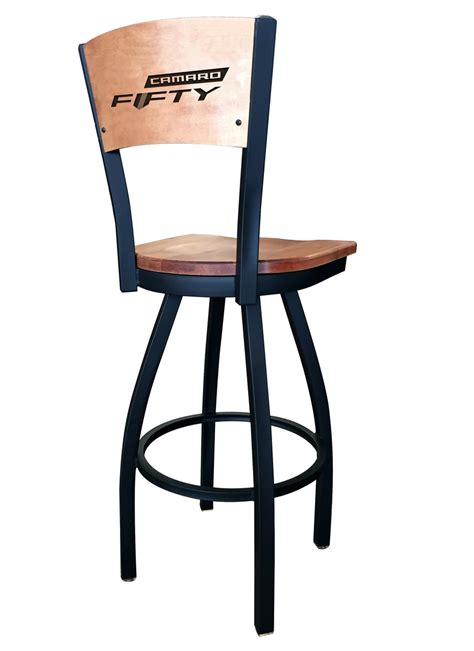 Maple Swivel Bar Stools by Camaro 50th Anniversary Black Swivel Bar Stool Laser