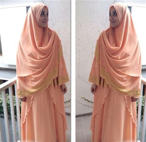 Hawa Khimar by Busana Muslim Trendy Style Tren Khimar Berenda