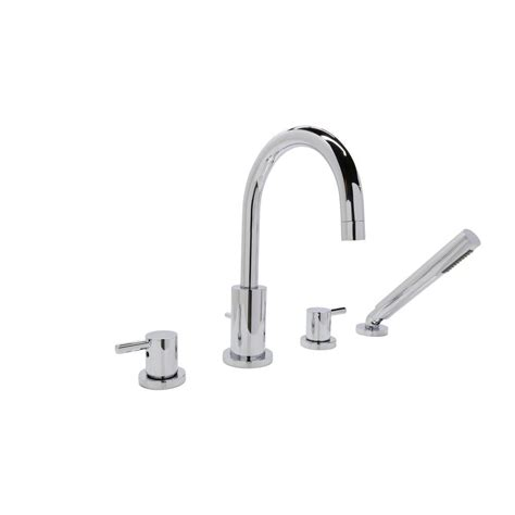 deck mount bathtub faucet with sprayer anzzi lien series 2 handle lever deck mount roman tub