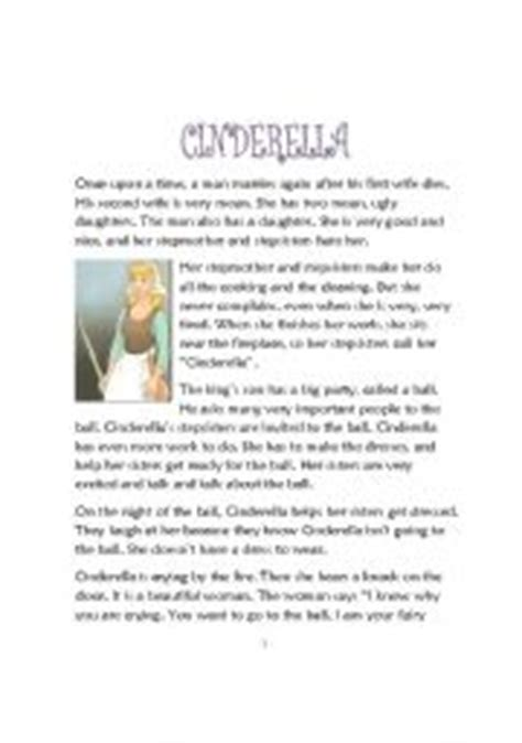 printable version of fairy tales english teaching worksheets cinderella