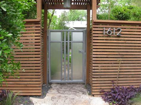 Front Door Fence Outdoor Amazing Wood Fence Design With Glass Door For Modern Exterior Ideas Wood Fence