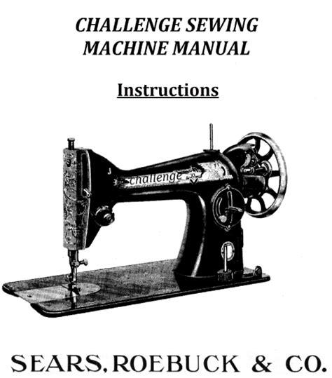 Sears Challenge Sewing Machine Manual