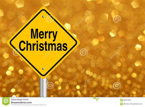 merry christmas road sign stock photo image
