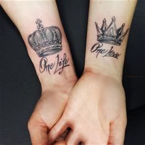 imagenes de tatuajes de king y queen my wheels are turning one love one life