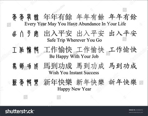 new year wishes translation new year wishes translation stock vector