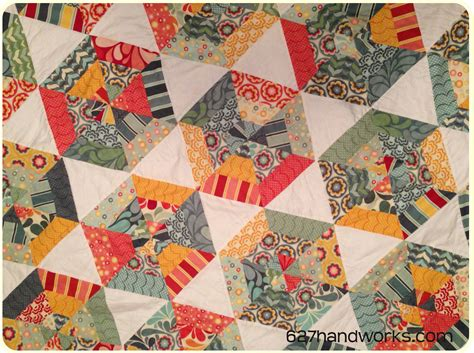 How To Quilt Triangles by Hexy Triangle Quilt 627handworks