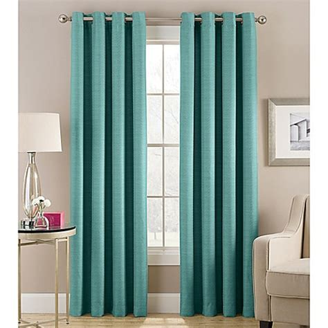 Teal Window Curtains Buy Cheshire 63 Inch Grommet Top Lined Window Curtain Panel In Teal From Bed Bath Beyond