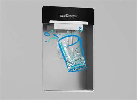 Non Plumbed Water Dispenser by Freestanding American Style Fridge Freezer Asd241 Beko Eire