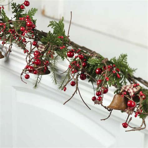 artificial cedar and christmas bell garland christmas