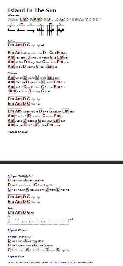 ukulele tutorial island in the sun 19 best weezer images on pinterest weezer music and