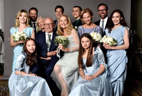 Jerry hall tweets family photo of her and new husband rupert murdoch daily mail online