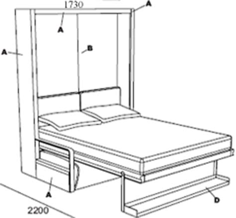 ito sofa wall bed the ito fold away wall bed with adjustable sofa clei
