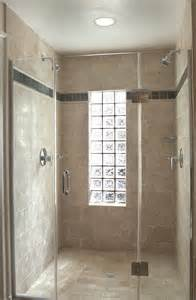 glass block window in shower bathroom with curbless epoxy