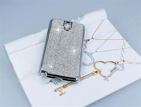 Anyland Swarovski Samsung Galaxy Note 3 eiroo glows samsung n7500 galaxy note 3 neo ta蝓l莖 silver rubber k莖l莖f