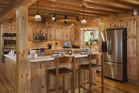 Log Home Kitchen Designs Log Cabin Kitchens With Modern And Rustic Style Homestylediary