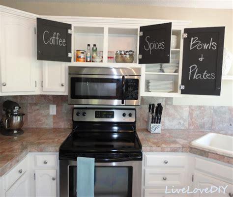 kitchen cupboard makeover ideas kitchen makeover with chalkboard cabinet doors
