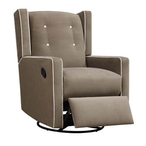 upholstered rocker recliner upholstered swivel gliding recliner in mocha da6942s m
