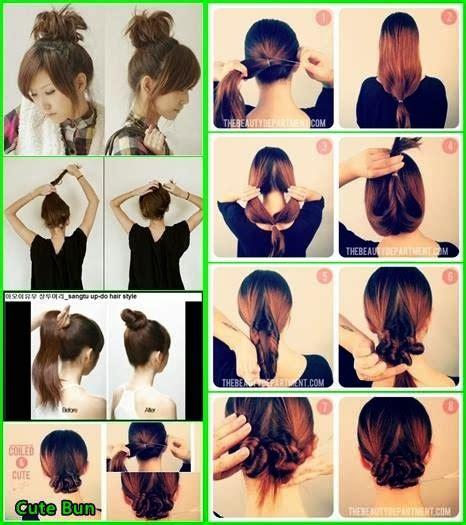 tutorial kuncir rambut unik cara mengikat rambut dengan rambut sendiri unik dan cantik