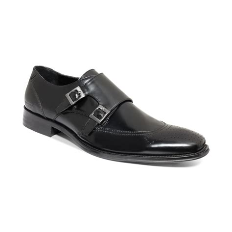kenneth cole reaction trickery monk shoes in black