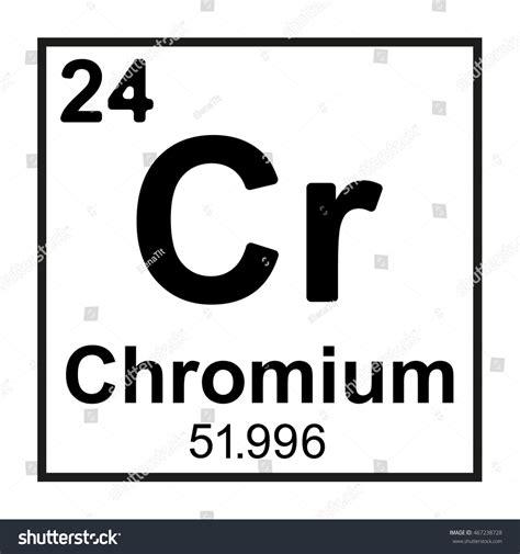 Chromium On Periodic Table by Periodic Table Element Chromium Stock Vector 467238728