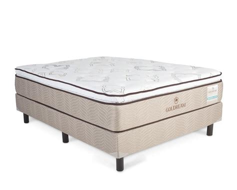 colchon y box juego de colch 243 n y box matrimonial goldream imperial plus