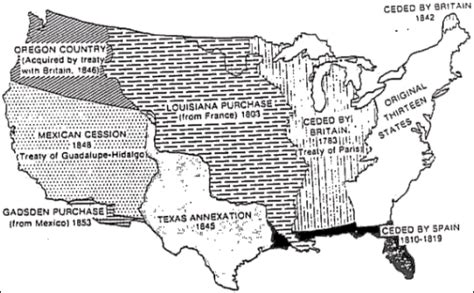 map us land acquisitions c calhoun vetoes annexation of mexico david duke