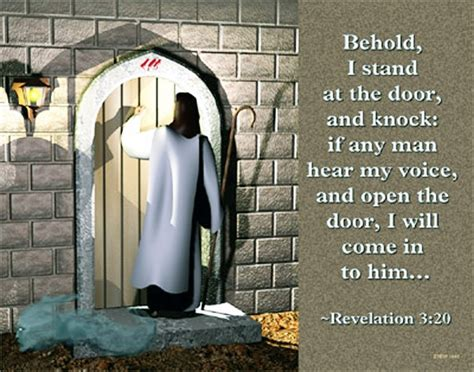 Stand At The Door And Knock by Behold I Stand At The Door And Knock Bible Verses
