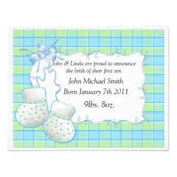 baby announcement templates baby boy template booties announcement 4 25 quot x 5 5